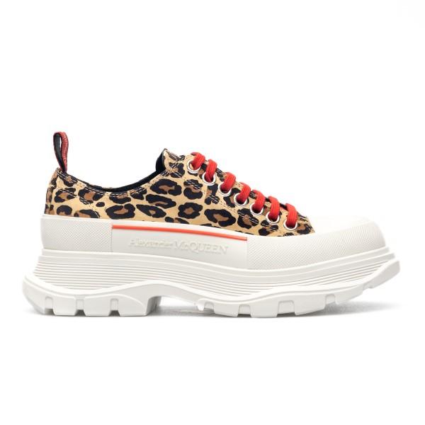 Sneakers animalier con suola chunky                                                                                                                   Alexander mcqueen 650779 front