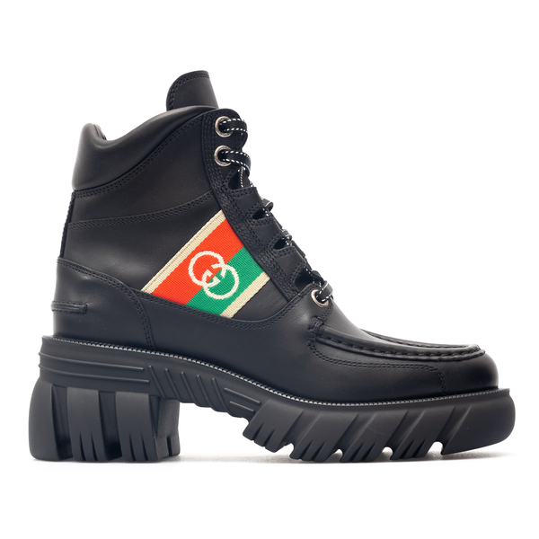 Lace-up ankle boots with logo detail                                                                                                                  Gucci 663594 back