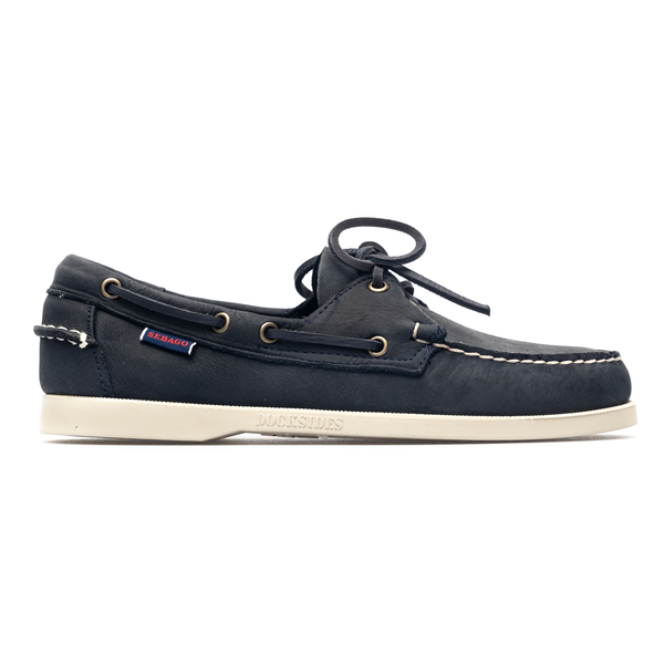 Blue loafers with contrasting stitching                                                                                                               Sebago 70015H0 back