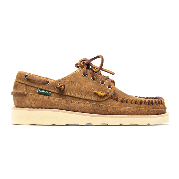 Suede lace-up in sand color                                                                                                                           Sebago 70015R0 back
