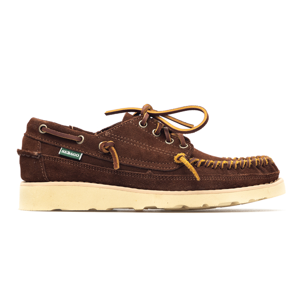 Brown suede lace-up with high sole                                                                                                                    Sebago 70015R0 back