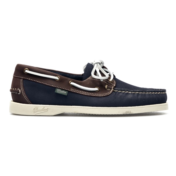Blue and brown loafers with laces                                                                                                                     Paraboot 780304 back
