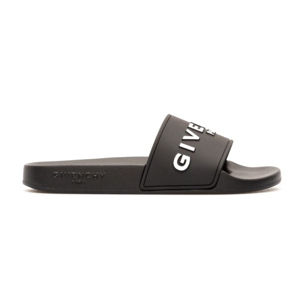 Black rubber slippers with logo                                                                                                                       Givenchy BE3004 back