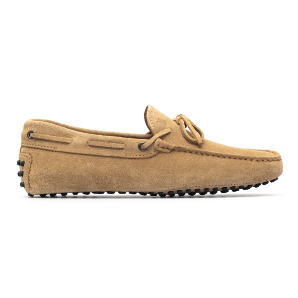 Sand-colored suede loafers                                                                                                                            Tods XXM0GW05470 back