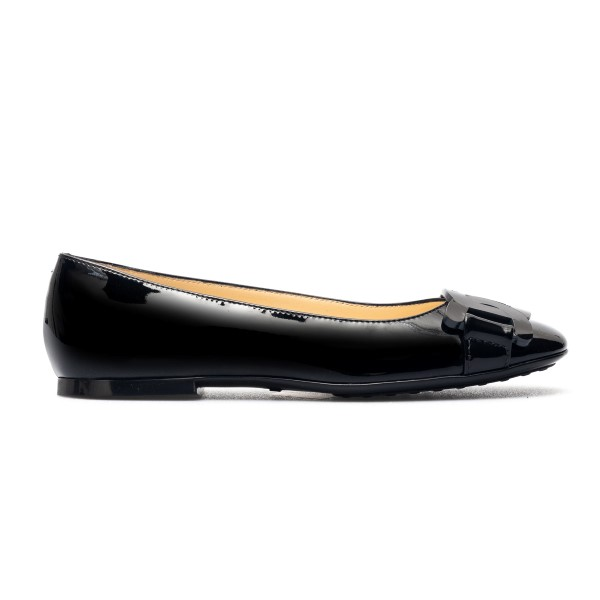 Black ballet flats with chain detail                                                                                                                  Tods XXW06D0EB40 back