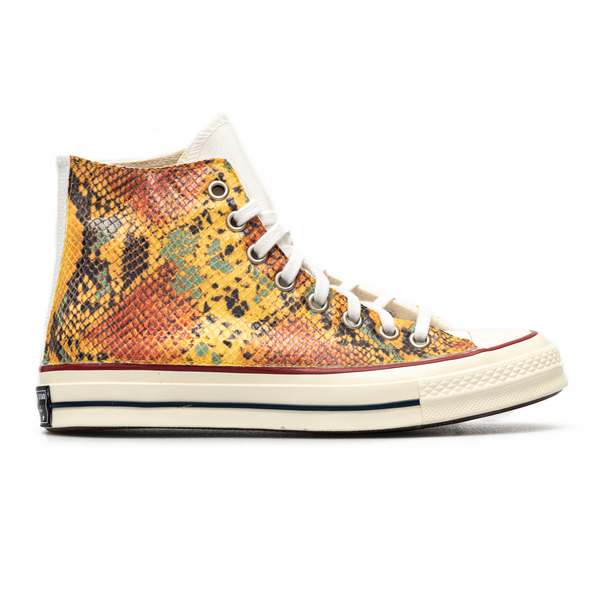 Yellow sneakers with python effect                                                                                                                    Converse 171014C back