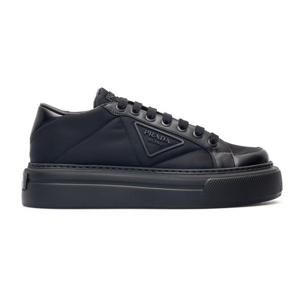 Black sneakers with tonal logo                                                                                                                        Prada 2EG376 back