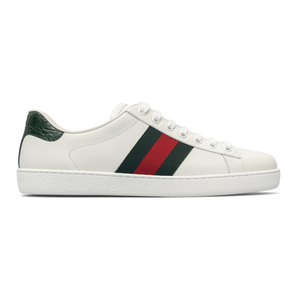 White sneakers with two-tone band                                                                                                                     Gucci 386750 back