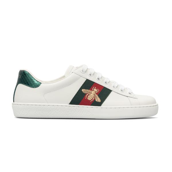 Sneakers bianche con ricamo insetto                                                                                                                   Gucci 429446 retro