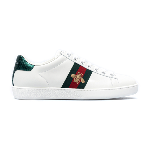 White sneakers with bee embroidery                                                                                                                    Gucci 431942 front