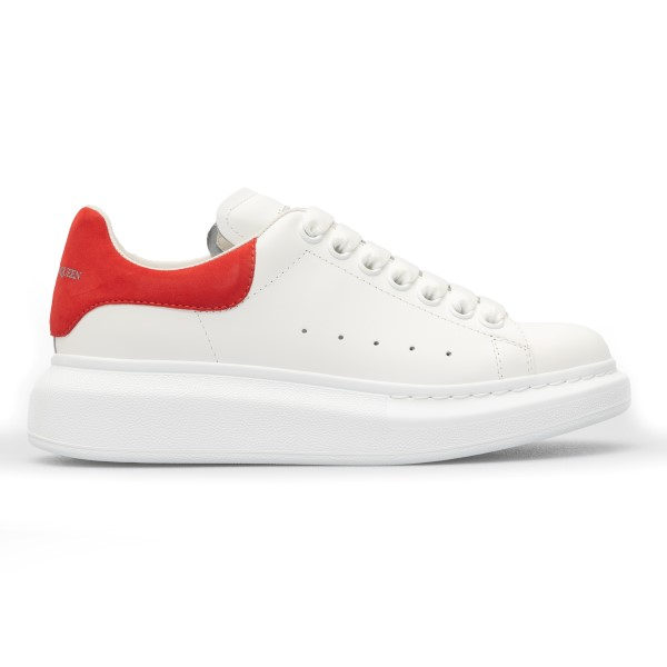 White sneakers with red heel                                                                                                                          Alexander mcqueen 553770 front