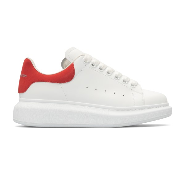 White sneakers with red heel                                                                                                                          Alexander Mcqueen 553770 back