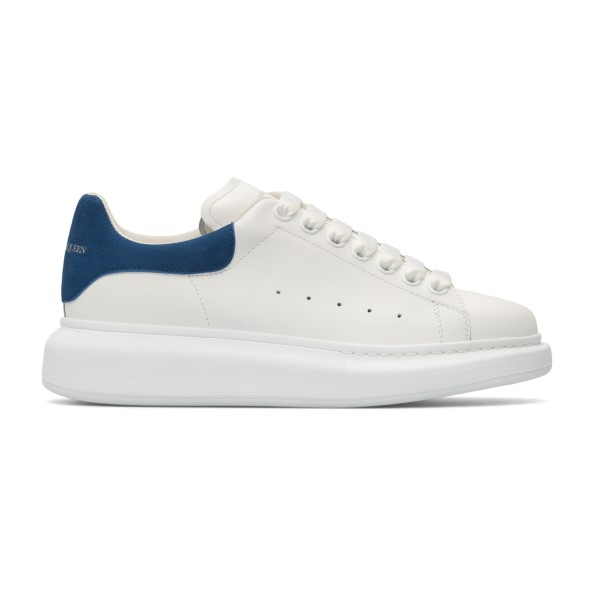 White sneakers with blue heel                                                                                                                         Alexander Mcqueen 553770 back