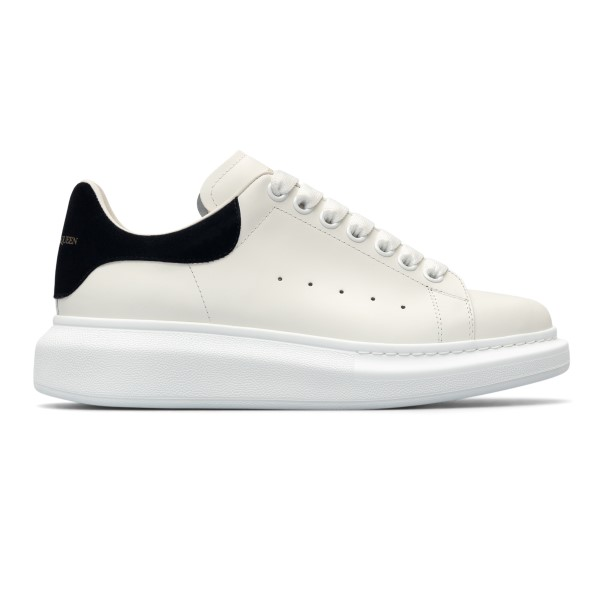 White sneakers with black heel                                                                                                                        Alexander Mcqueen 553770 back