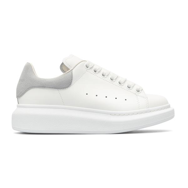 White sneakers with grey heel                                                                                                                         Alexander Mcqueen 553770 back