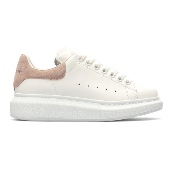 White sneakers with pink heel                                                                                                                         Alexander Mcqueen 553770 back
