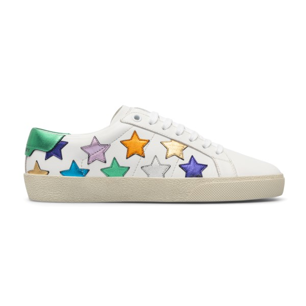 White sneakers with multicolored stars                                                                                                                Saint Laurent 592541 back