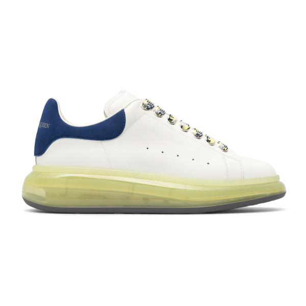 Sneakers bianche con tallone blu                                                                                                                      Alexander Mcqueen 604232 retro
