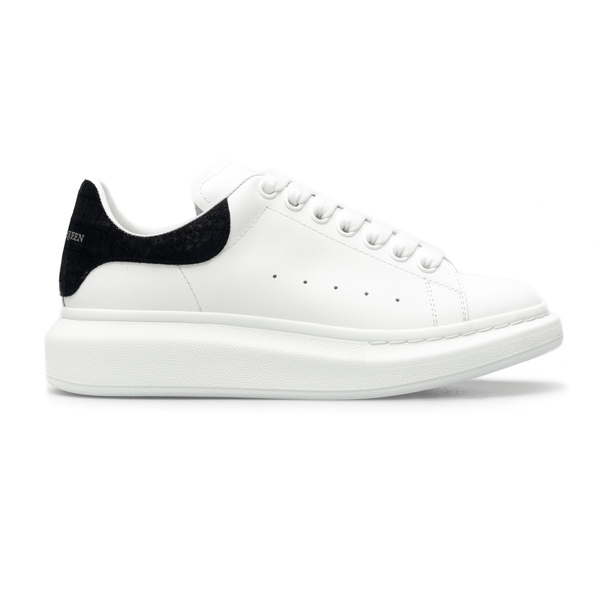 White sneakers with black detail                                                                                                                      Alexander Mcqueen 625162 back