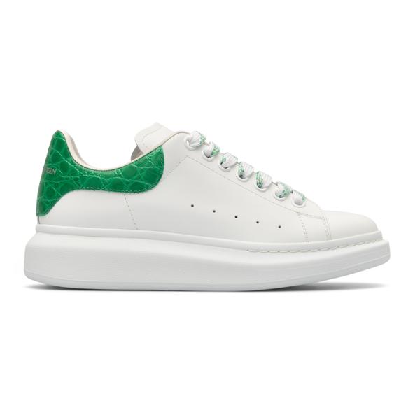 White sneakers with crocodile heel                                                                                                                    Alexander Mcqueen 625162 back