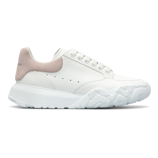 White sneakers with pink heel                                                                                                                         Alexander Mcqueen 633915 back