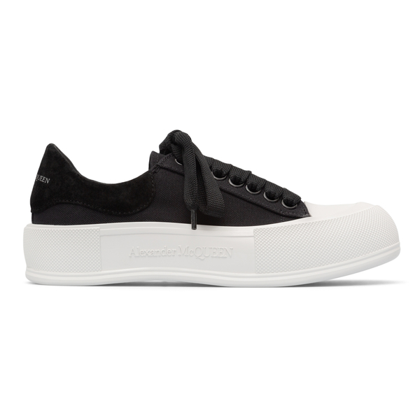 Low black sneakers with thick sole                                                                                                                    Alexander Mcqueen 654593 back