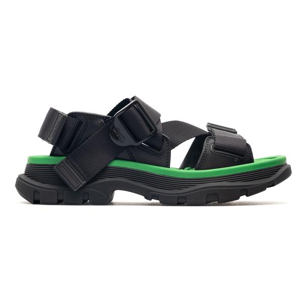 Black sandals with straps                                                                                                                             Alexander Mcqueen 667285 back