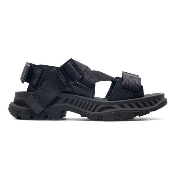 Black sandals with bands                                                                                                                              Alexander Mcqueen 667285 back
