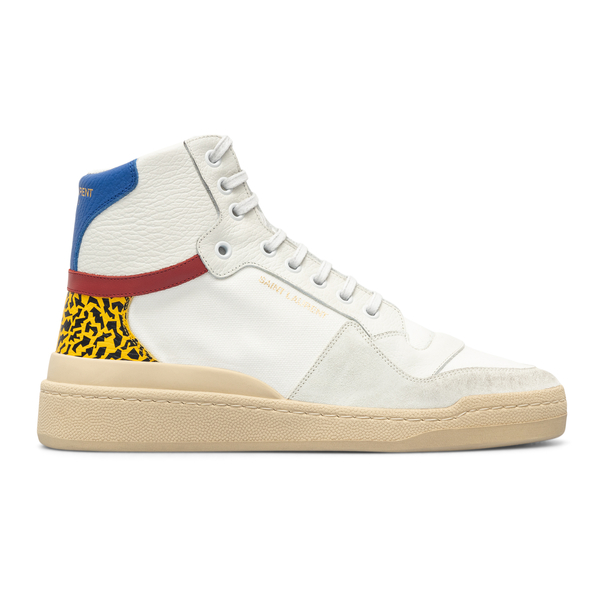 High white sneakers with contrasting back                                                                                                             Saint Laurent 669430 back