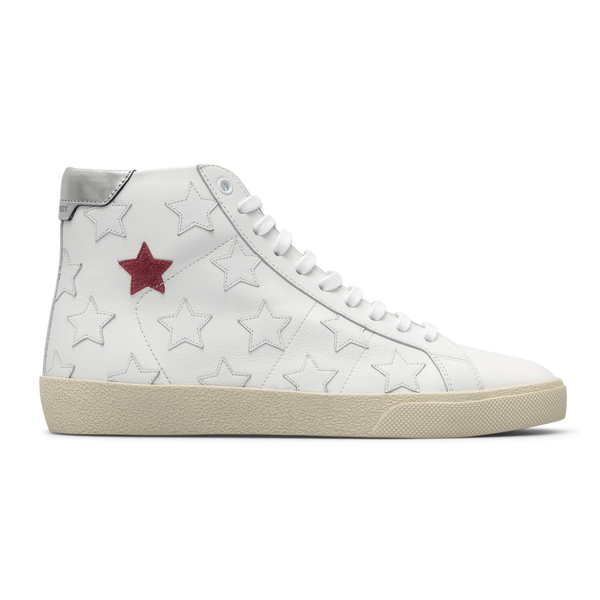 White sneakers with stars                                                                                                                             Saint Laurent 672906 back