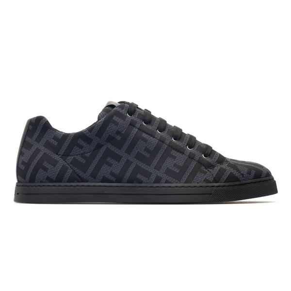 Black sneakers with logo pattern                                                                                                                      Fendi 7E1258 back