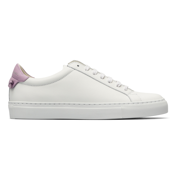 White sneakers with lilac heel                                                                                                                        Givenchy BE0003 back