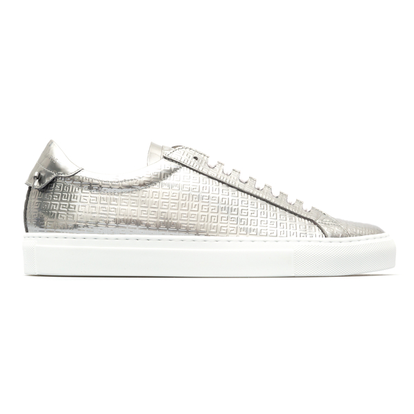 Metallic silver sneakers with logo                                                                                                                    Givenchy BH0002 back