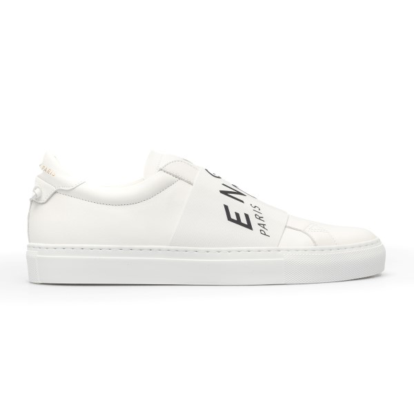 White sneakers with logo band                                                                                                                         Givenchy BH0003 front