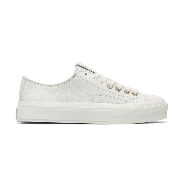 Sneakers bianche con placca logo                                                                                                                      Givenchy BH0050 retro