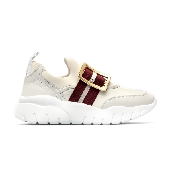 White sneakers with gold buckle                                                                                                                       Bally BRINELLETSP front