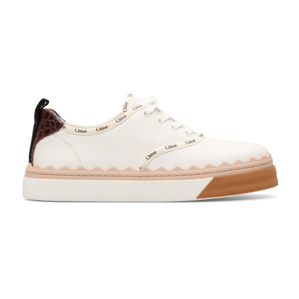 White sneakers with logo details                                                                                                                      Chloe' CHC21A488 back