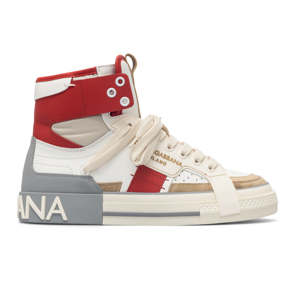 High white sneakers with brand name                                                                                                                   Dolce&gabbana CS1870 back