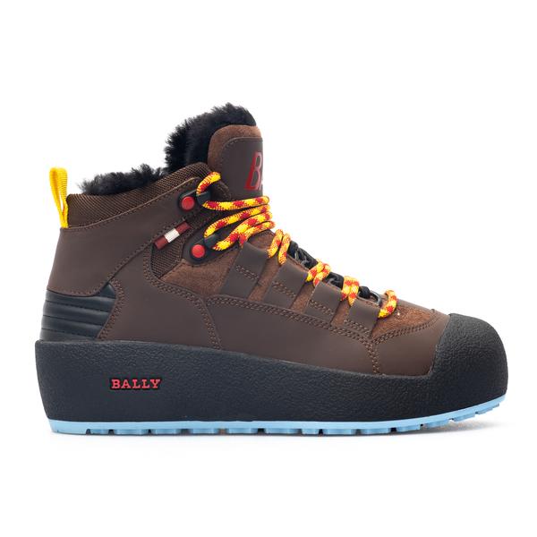 Brown trekking style sneakers                                                                                                                         Bally CUSAGOTW back