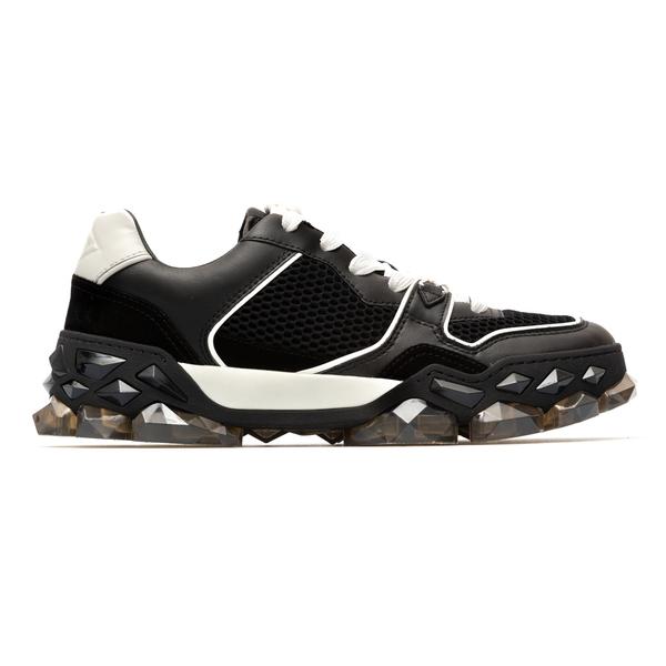 Black sneakers with crystal effect sole                                                                                                               Jimmy Choo DIAMONDXTRAINER back