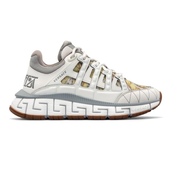 White sneakers with Greca pattern                                                                                                                     Versace DST539G back