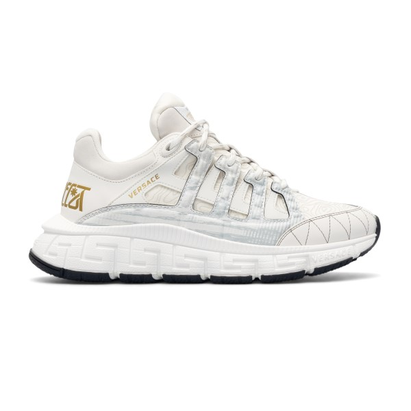 White sneakers with Greca pattern                                                                                                                     Versace DSU8094 front