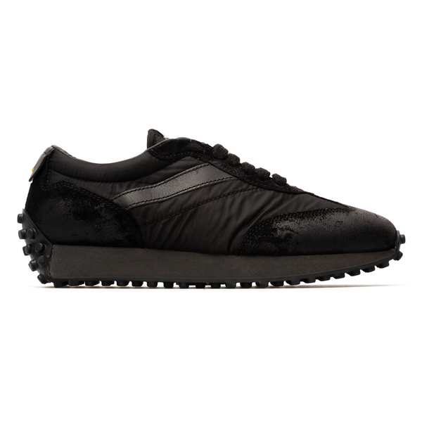 Black sneakers with suede details                                                                                                                     Doucal's DU2866 back