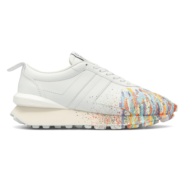 White sneakers with paint spots                                                                                                                       Gallery Department X Lanvin FMSKBRUCSGGDE21 back