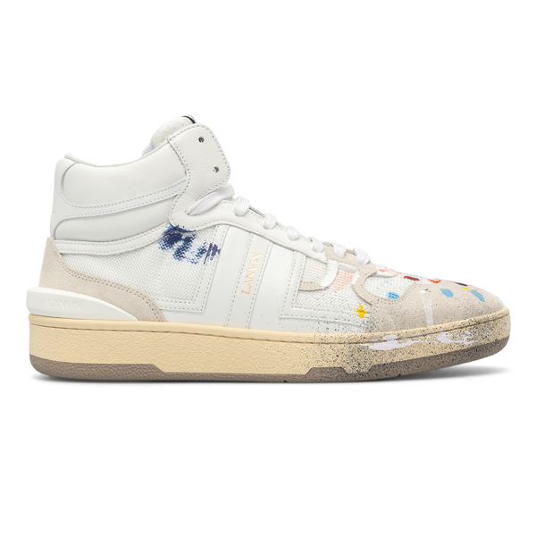 High sneakers with paint stains                                                                                                                       Gallery Department X Lanvin FMSKDK01NAGDE21 back