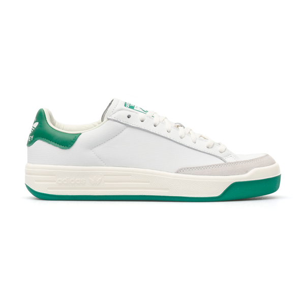 White sneakers with green and black details                                                                                                           Adidas Originals FY1791 back