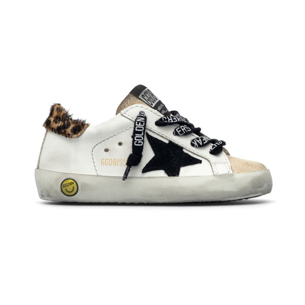 Sneakers bianche con tallone animalier                                                                                                                Golden Goose GJF00101 fronte