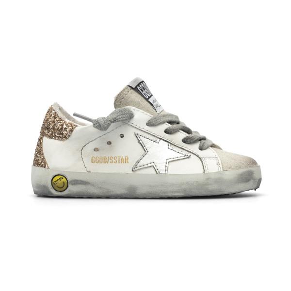 White sneakers with glitter detail                                                                                                                    Golden Goose GJF00102 back