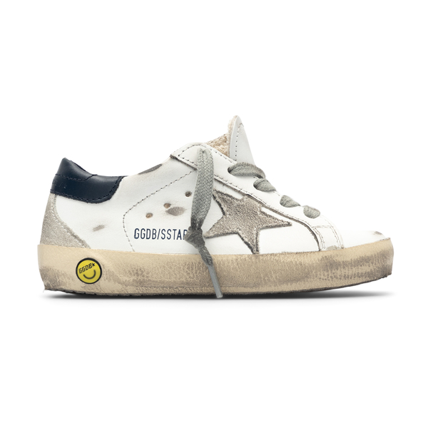 Sneakers bianche con stampa smile                                                                                                                     Golden Goose GJF00102 retro