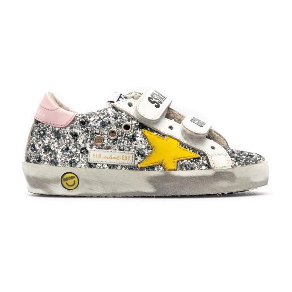 Sneakers in silver glitter                                                                                                                            Golden Goose GJF00111 back